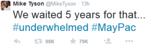 Mike Tyson comment on Mayweather vs pacquiao fight