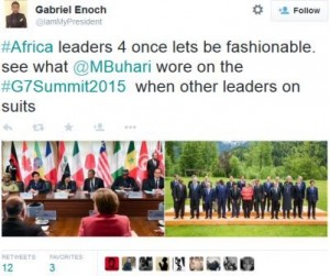Gabriel Enoch comment on Buhari's dress to G7 2015 summit