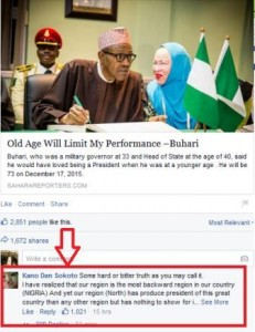 Kano Dan Sokoto comment about Northern Nigeria 2