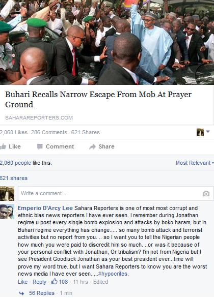 Sahara Reporters pro Buhari